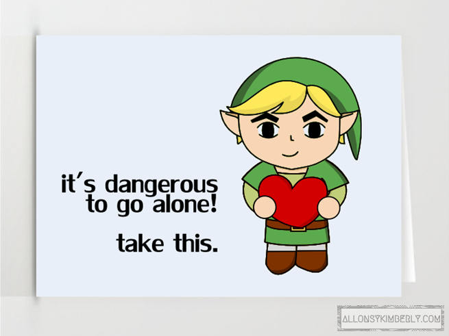 Freebie: Nintendo themed Valentine's Day Cards | allonsykimberly.com