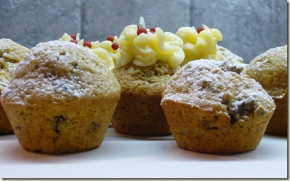 christmas pudding mini muffins1