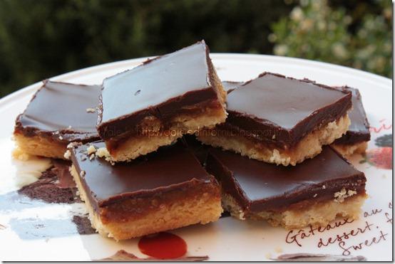 Quadrotti caramello e cioccolato