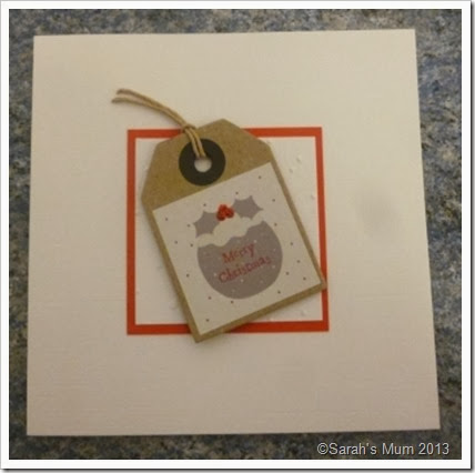 Handmade tag Christmas Card