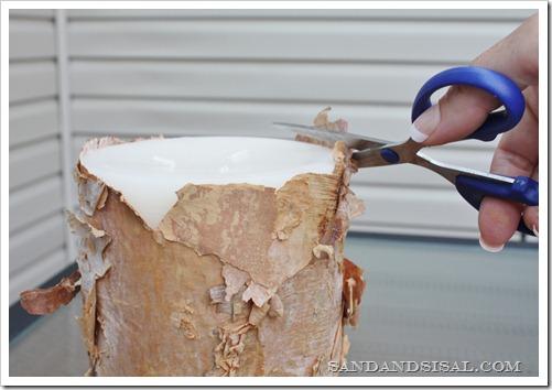 Обрезать избыток коры