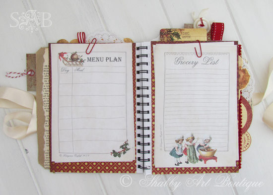 Shabby Art Boutique Christmas Planner 3