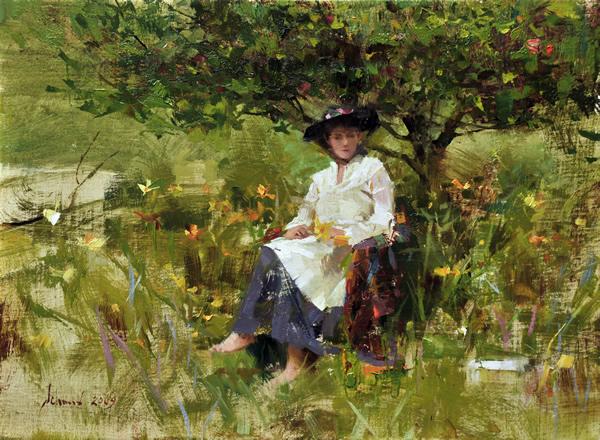 03_Schmid Richard, Adele in Our Garden_oil_9_x12_.jpg