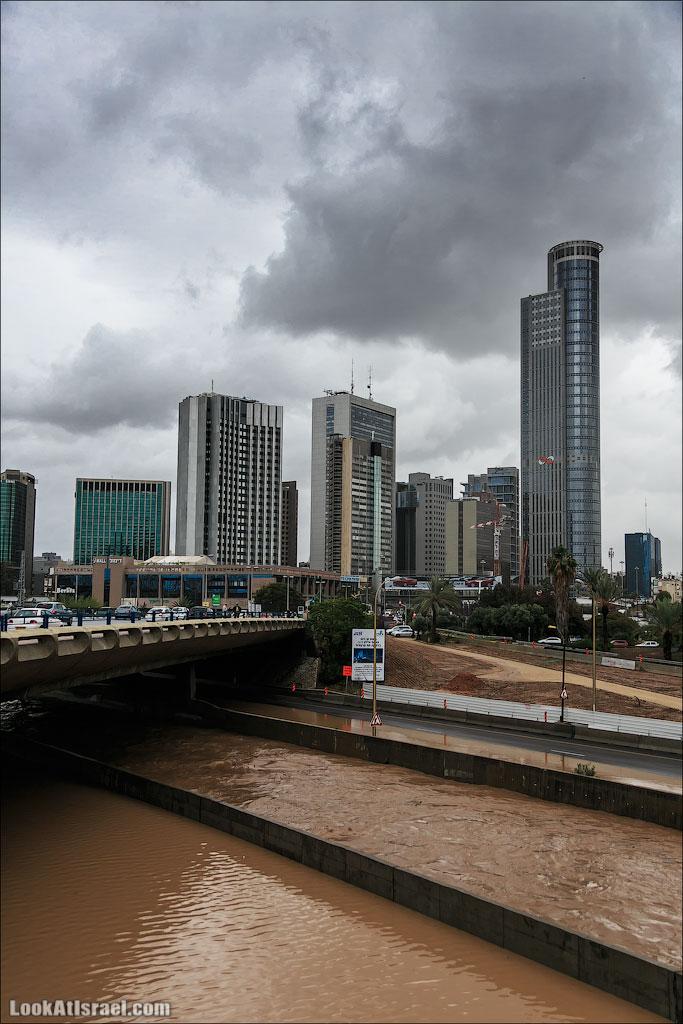 Сказ о том как одна маленькая, но гордая речка парализовала половину Израиля и весь Тель Авив (foto israel  фото тель авив и интересно и полезно дождь и снег  20130108 ta ayalon river 026 5D3 5687)