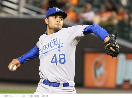 'Kansas City Royals relief pitcher Joakim Soria (48)' photo (c) 2011, Keith Allison - license: http://creativecommons.org/licenses/by-sa/2.0/