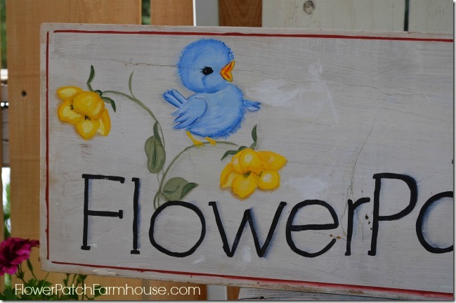 Flower Patch Bluebird sign