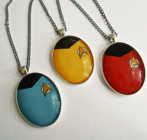 Star Trek Shirt Necklaces from Land of Rapture