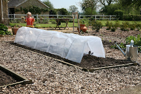 Giant Easy Poly Tunnel - warms earth ready for planting