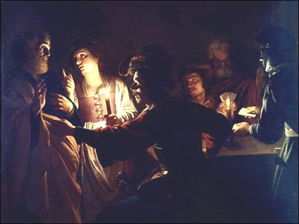 Gerrit Van Honthorst, Le reniement de St Pierre