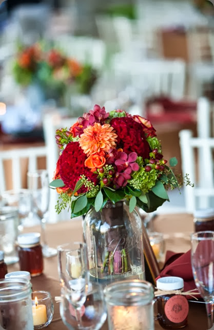 bouquets as centerpieces BA_1299  holly chapple