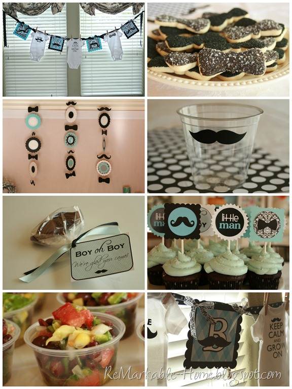 Little Man Mustache Shower @ ReMarkable-Home.blogspot.com.