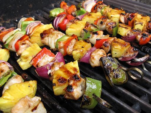Chicken Kabob Tutti fruity chicken kabobs