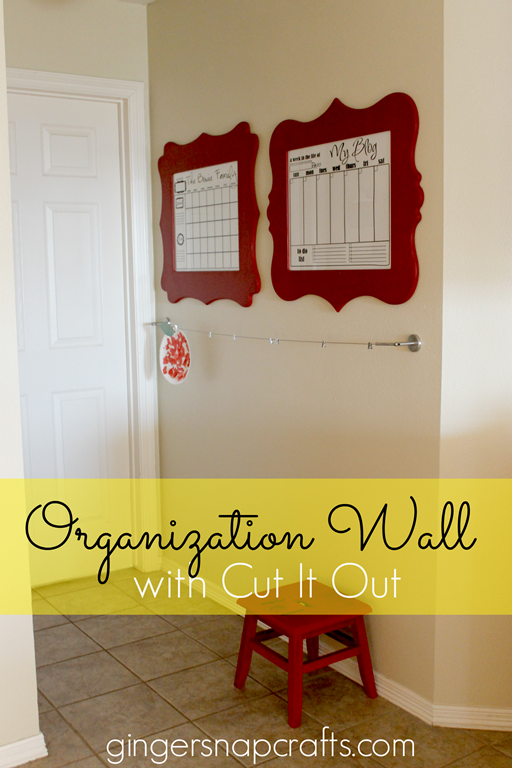 Organization Wall at GingerSnapCrafts.com with Cut It Out #frames #diy #organization #spon