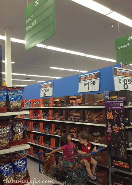 Candy aisle at walmart