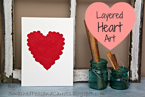 Layered Heart Art