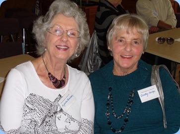 Natalie Harrison and Dorothy Hodge enjoying the moment