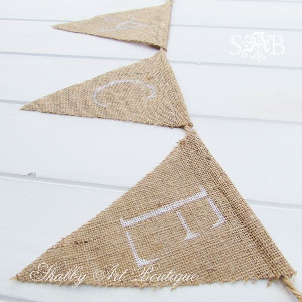 Shabby Art Boutique - burlap bunting 3