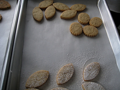 Here's a tray that shows different shape options and some undusted cookies too.
