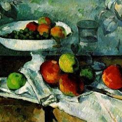 Paul Cezanne (1879-1882): Still Life with Compotier. Colección de Mr. y Mrs. Rene Lecomte. París. Postimpresionismo
