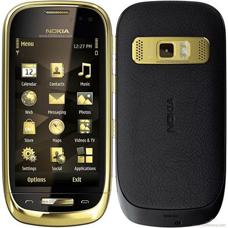 Nokia Oro - Ponsel Premium Berlapis Emas dan Kristal