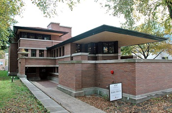 frank lloyd Robie House on the university of chicago