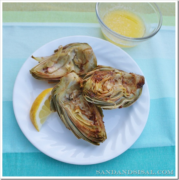 Fire Roasted Artichokes