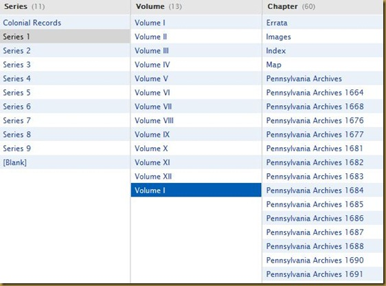 Pennsylvania Archives, Colonial Records, Series 1, Volume 1a