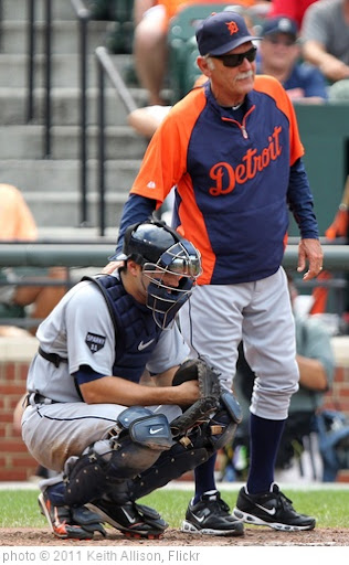 'Alex Avila, Jim Leyland' photo (c) 2011, Keith Allison - license: http://creativecommons.org/licenses/by-sa/2.0/