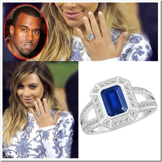 engagement ring of kim