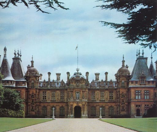 Waddesdon Manor, part of the Rothschilds' legacy, in the Buckinghamsire countryside.