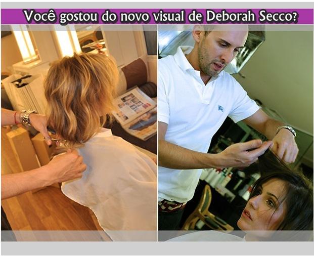 Novo visual de Deborah Secco