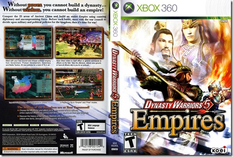 Dynasty Warriors 5 Empires COVER