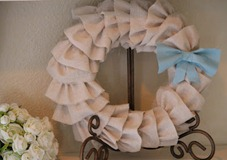 linen ruffle wreath