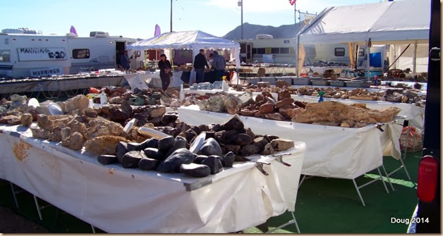 Rocks and gems at RV flea market