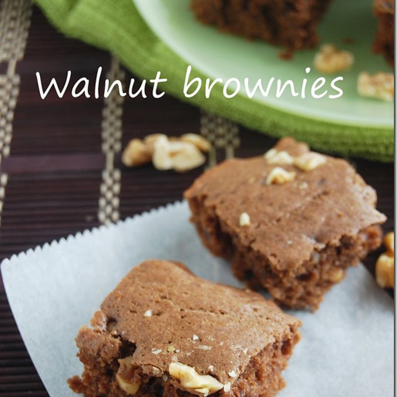 Eggless chocolate walnut brownies