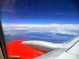 Lake Toba and Samosir island seen from an aircraft (Dan Quinn, September 2013)