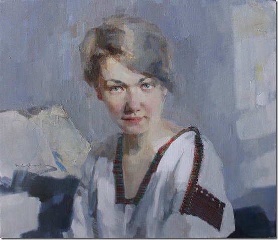 Portrait of A. Suvorova-Vadim-Suvorov-ENKAUSTIKOS