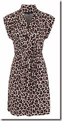 Animal Print Cap Sleeve Dress