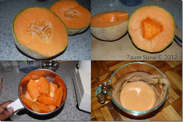 Ginger cantaloupe juice process