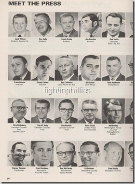 Phillies 1971 yearbook writers