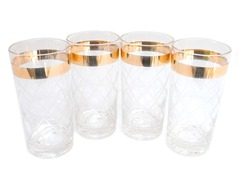 Highball glasses with a sophisticated gold stripe. (conranusa.com)