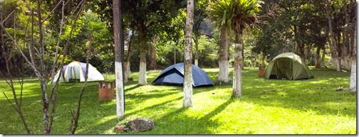 Área para mais de 250 barracas gramada e arborizada