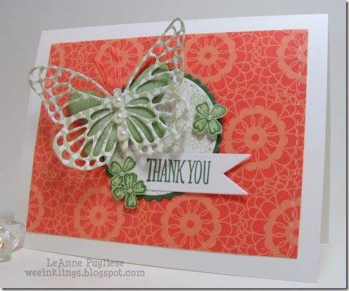 LeAnne Pugliese WeeInklings Paper Players 233 Something To Say Butterfly Stampin Up