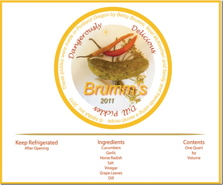 pickle label for 2011