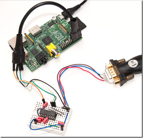 MAX3232CPE connect Raspberry Pi