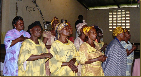 Choir at women's prayer