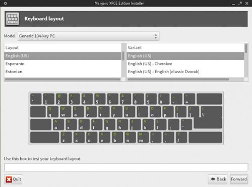 nuovo installer di Manjaro Linux