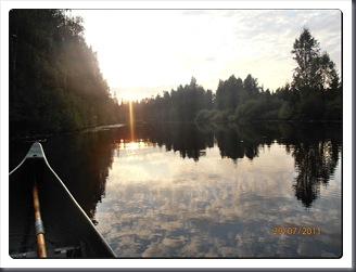 Solnedgång över älven.