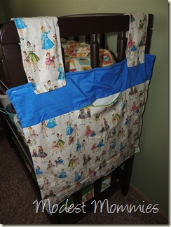 Cloth Diapering - Wet Bag on Changing Table