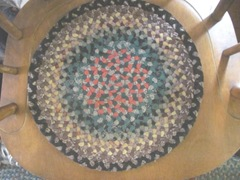 braided round chair mats yard sale find 2012